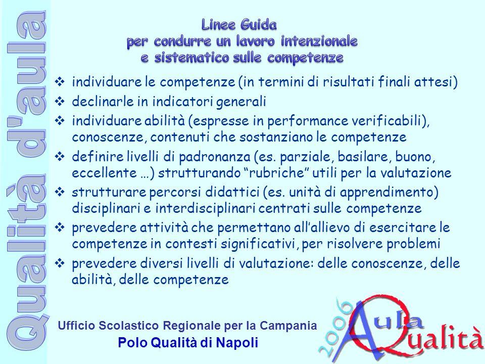 Linee Guida per condurre un lavoro intenzionale e sistematico sulle competenze