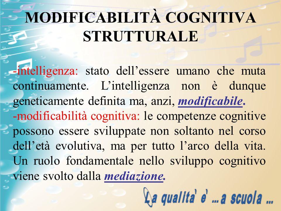 MODIFICABILITÀ COGNITIVA STRUTTURALE