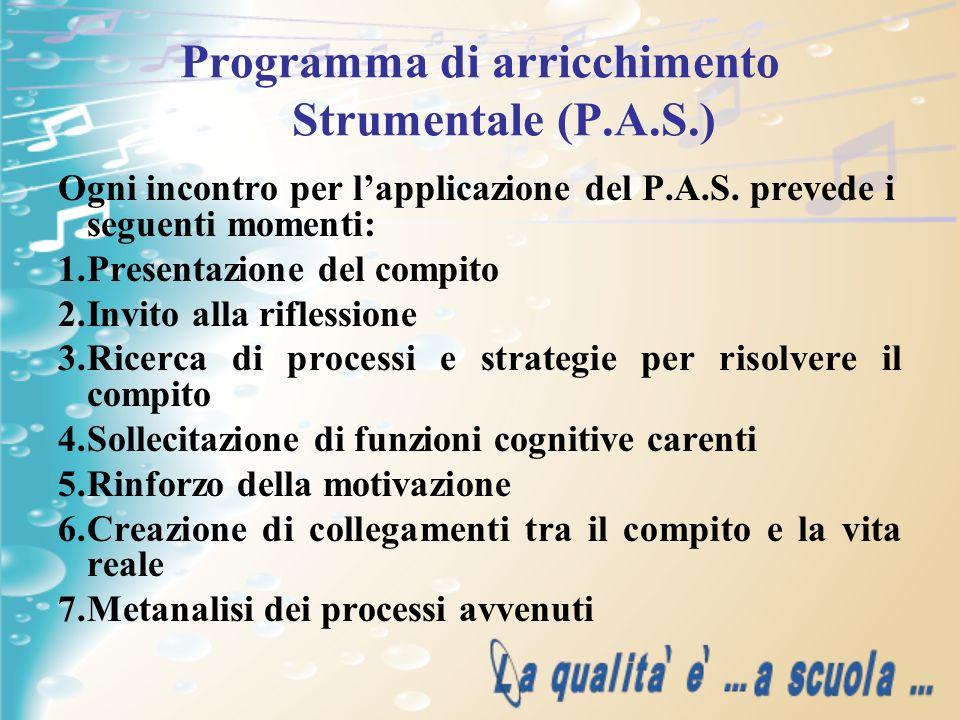 Programma di arricchimento Strumentale (P.A.S.)
