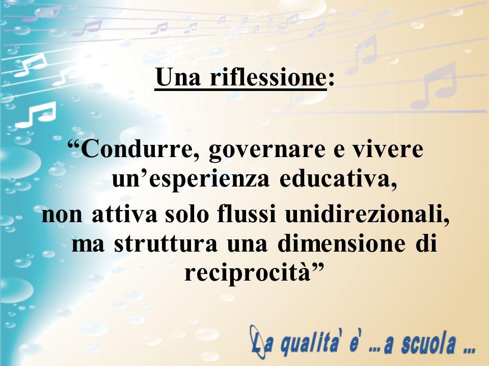 Condurre, governare e vivere un'esperienza educativa,