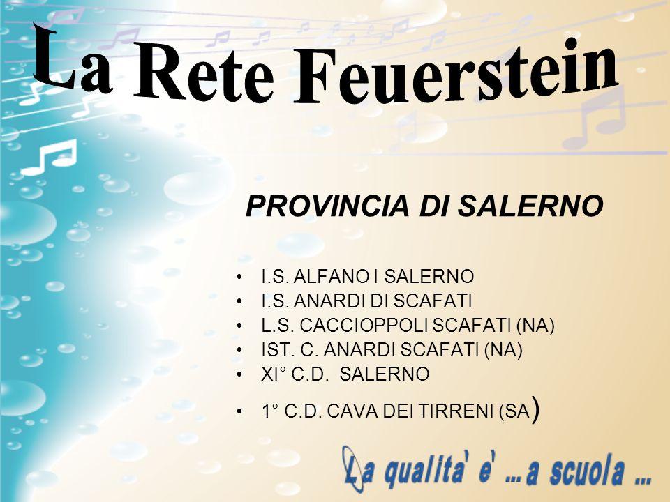 La Rete Feuerstein PROVINCIA DI SALERNO I.S. ALFANO I SALERNO