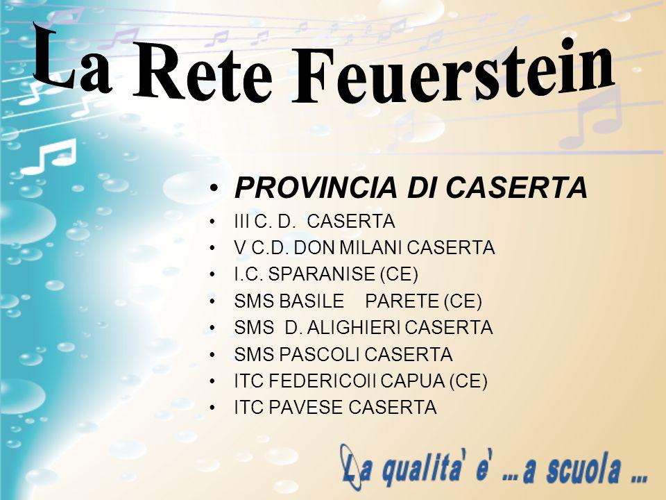 La Rete Feuerstein PROVINCIA DI CASERTA III C. D. CASERTA