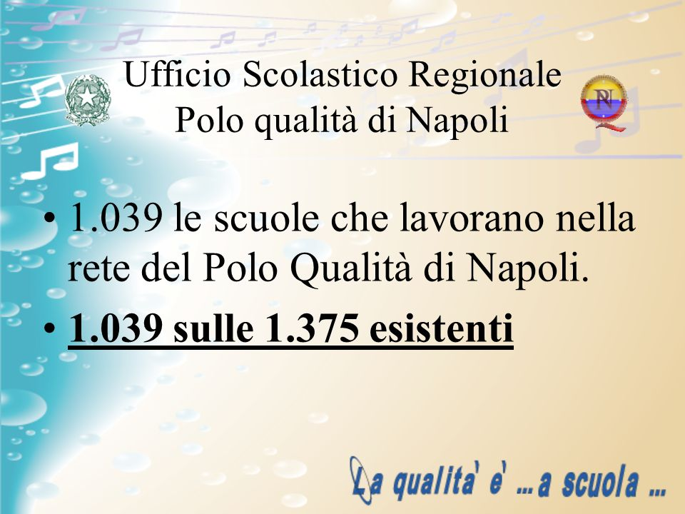 Ufficio Scolastico Regionale Polo qualità di Napoli