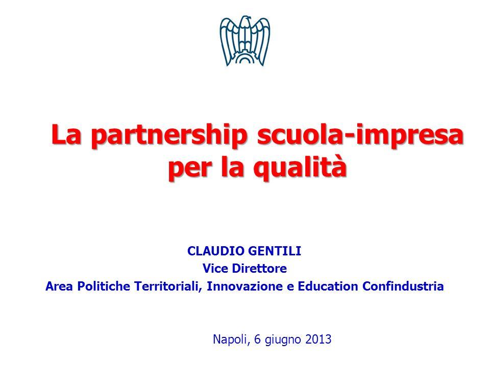 La partnership scuola-impresa per la qualità