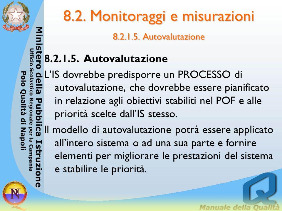 8.2. Monitoraggi e misurazioni 8.2.1.5. Autovalutazione