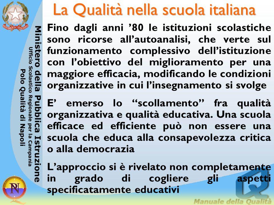 La Qualità nella scuola italiana