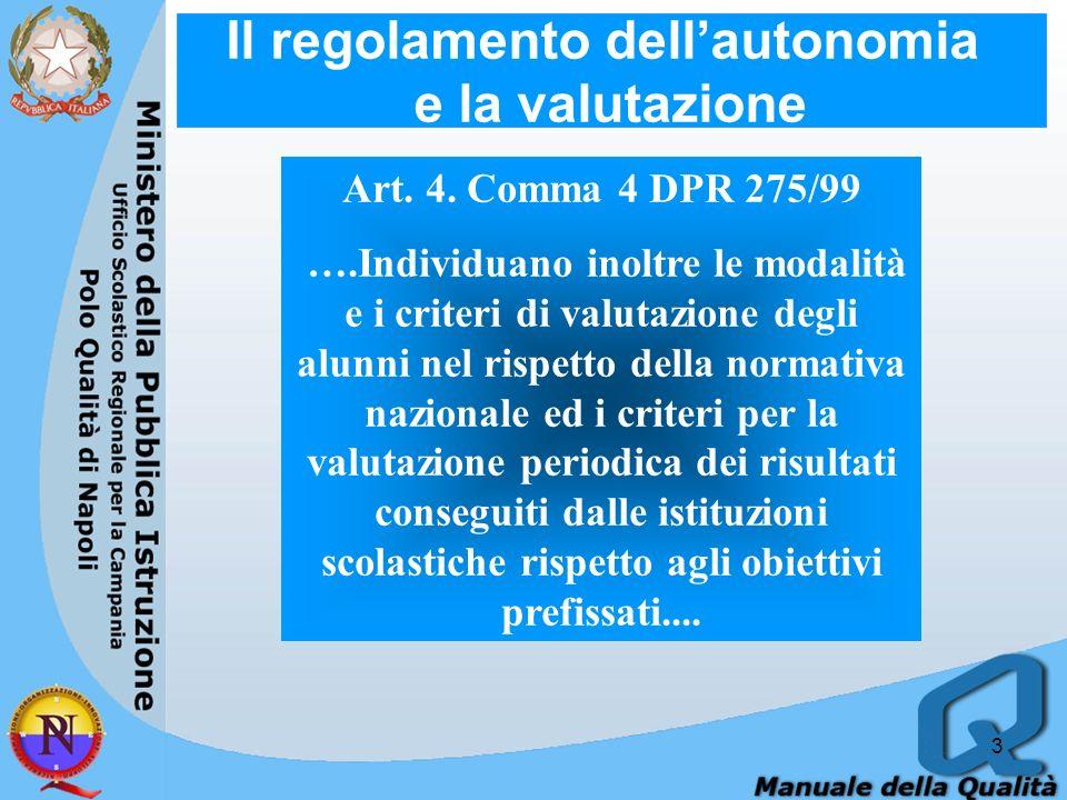 Il regolamento dell'autonomia