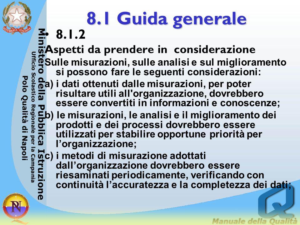 8.1 Guida generale 8.1.2 Aspetti da prendere in considerazione