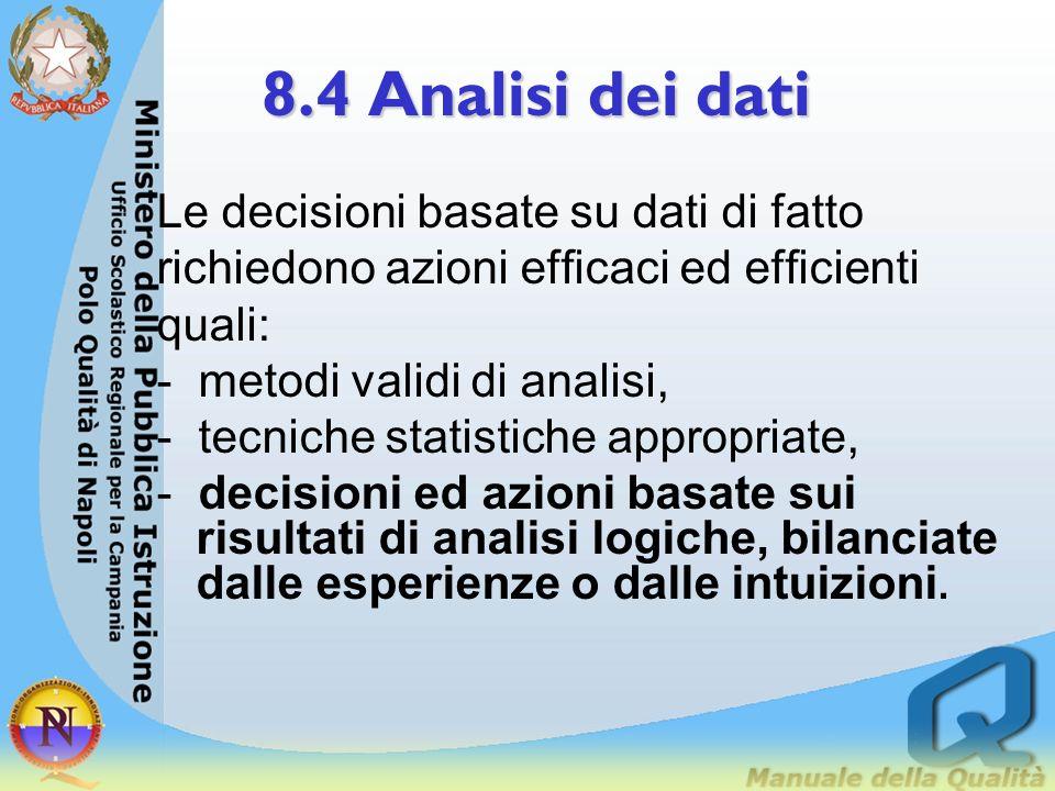 8.4 Analisi dei dati Le decisioni basate su dati di fatto