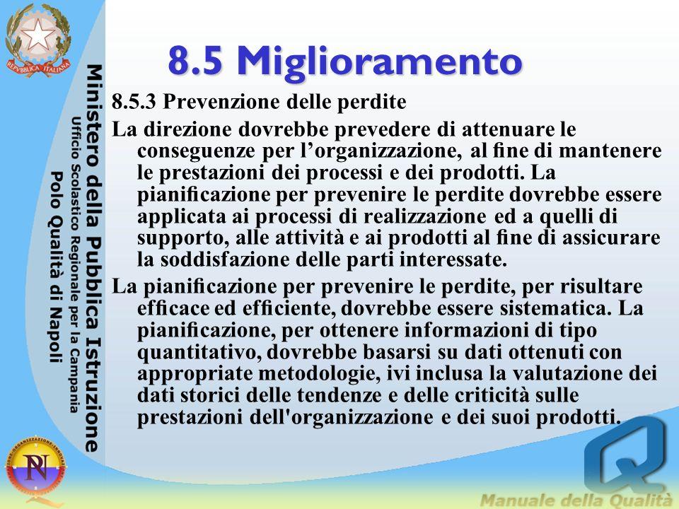 8.5 Miglioramento 8.5.3 Prevenzione delle perdite