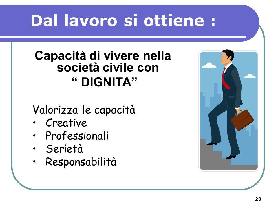 Capacità di vivere nella società civile con