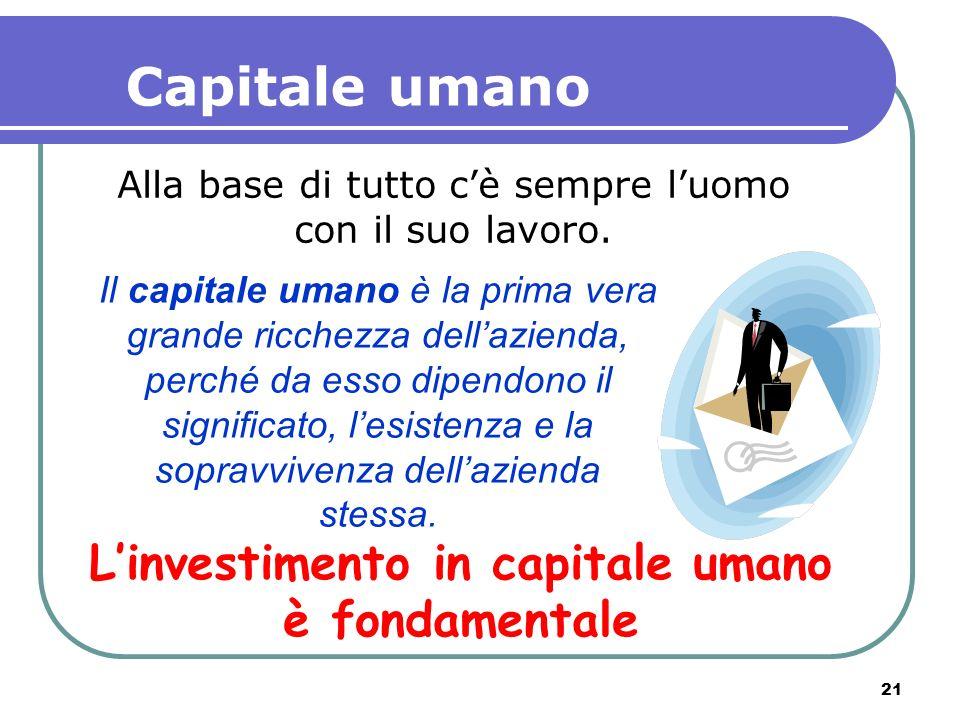 L'investimento in capitale umano è fondamentale