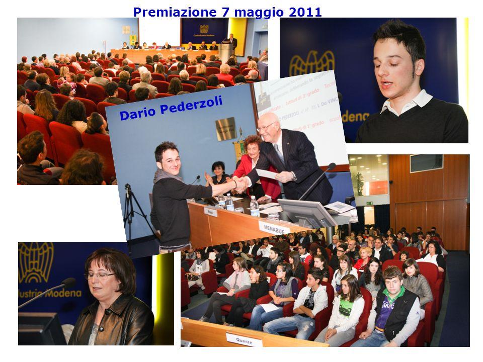 Premiazione 7 maggio 2011 Dario Pederzoli