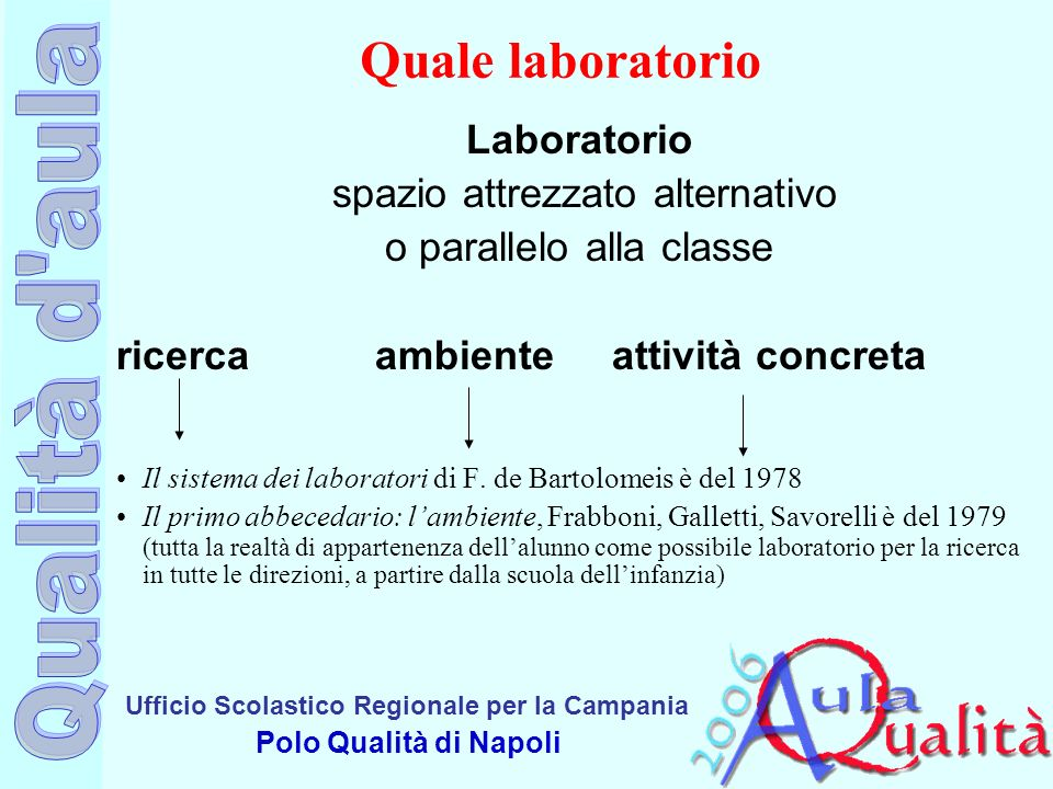 Quale laboratorio Laboratorio spazio attrezzato alternativo