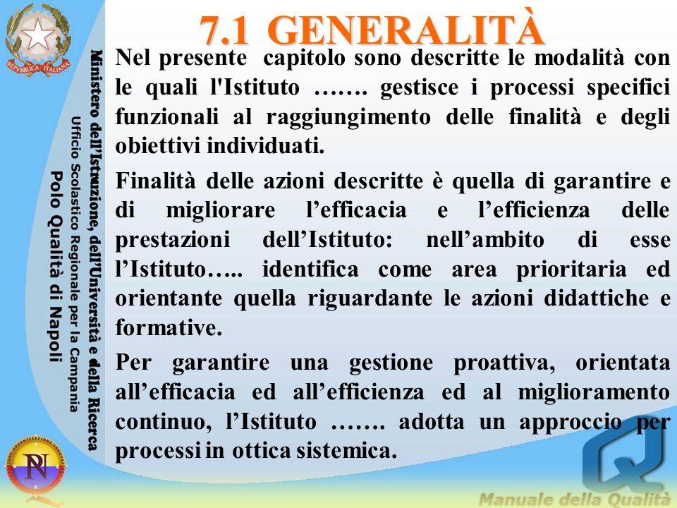 7.1 GENERALITÀ