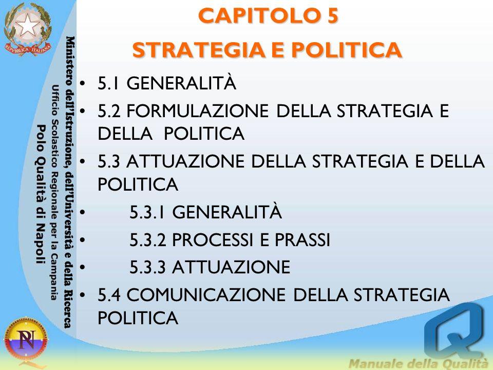 CAPITOLO 5 STRATEGIA E POLITICA
