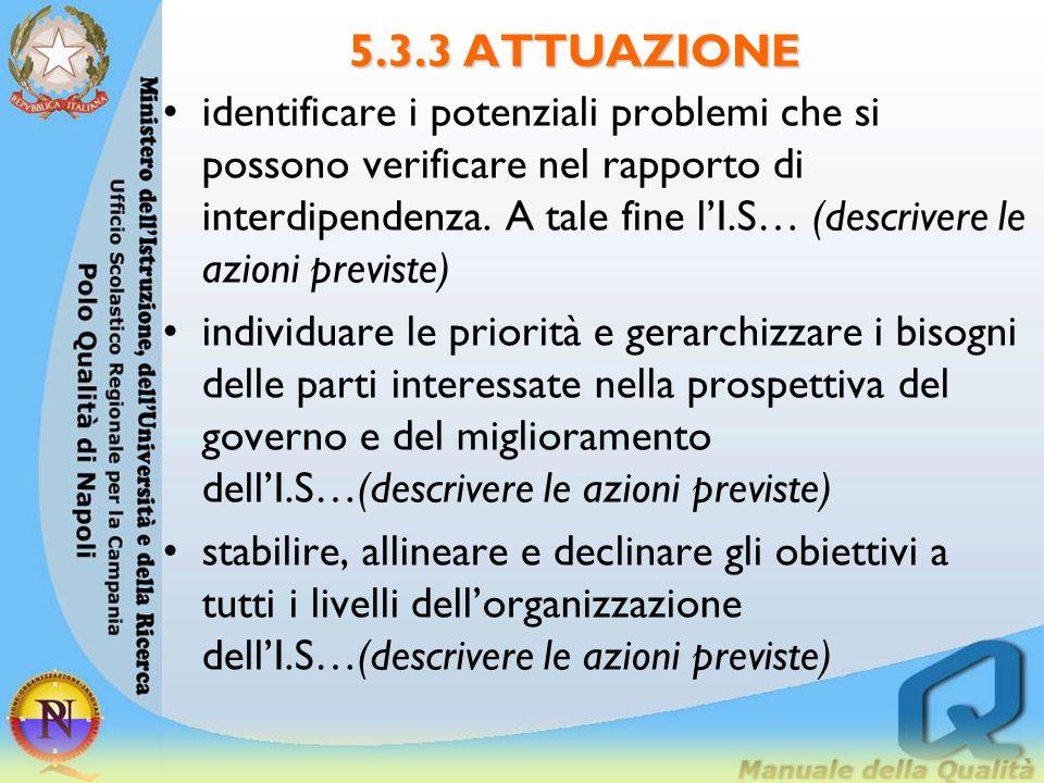 5.3.3 ATTUAZIONE