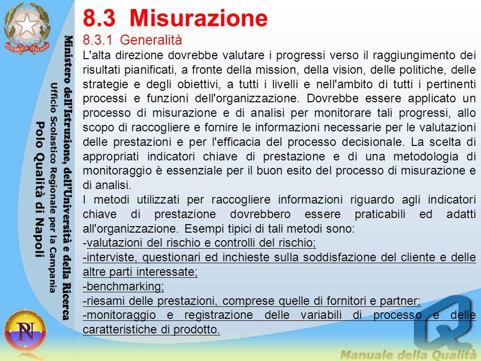 8.3 Misurazione 8.3.1 Generalità