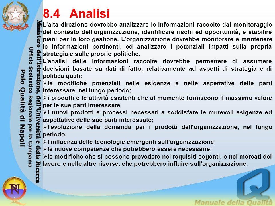 8.4 Analisi
