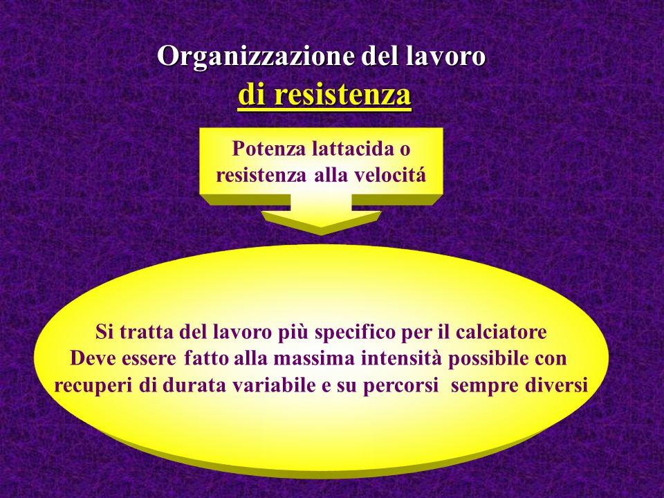 di resistenza Organizzazione del lavoro Potenza lattacida o