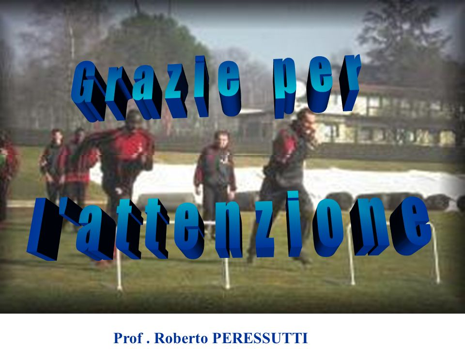 Grazie per l attenzione Prof . Roberto PERESSUTTI