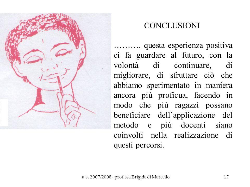 a.s. 2007/2008 - prof.ssa Brigida di Marcello