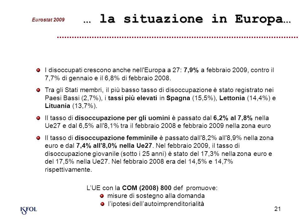 … la situazione in Europa…