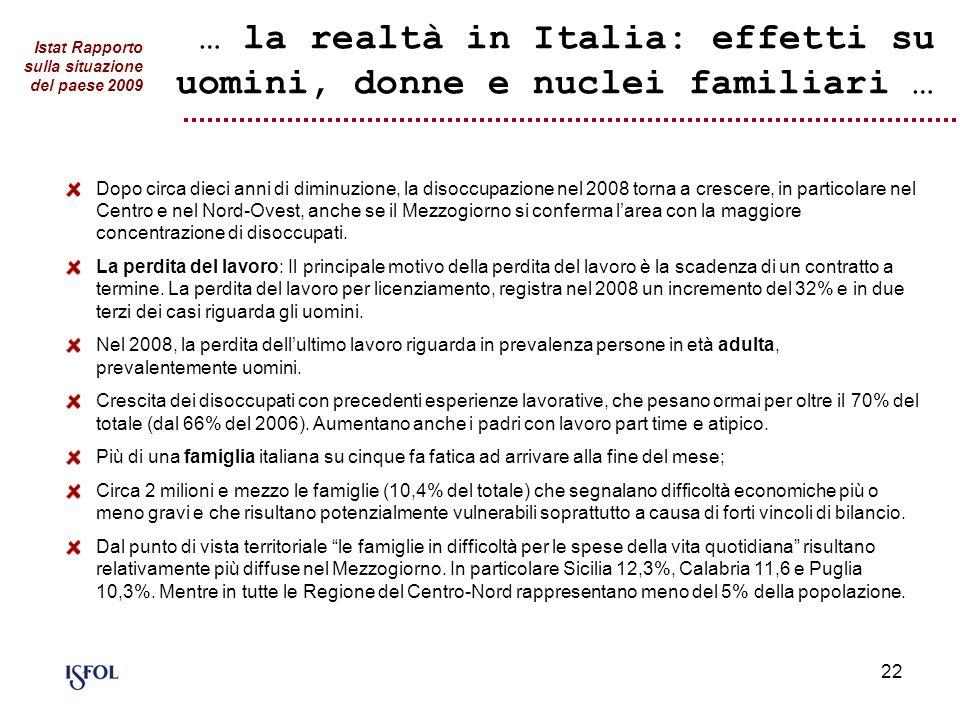 … la realtà in Italia: effetti su uomini, donne e nuclei familiari …