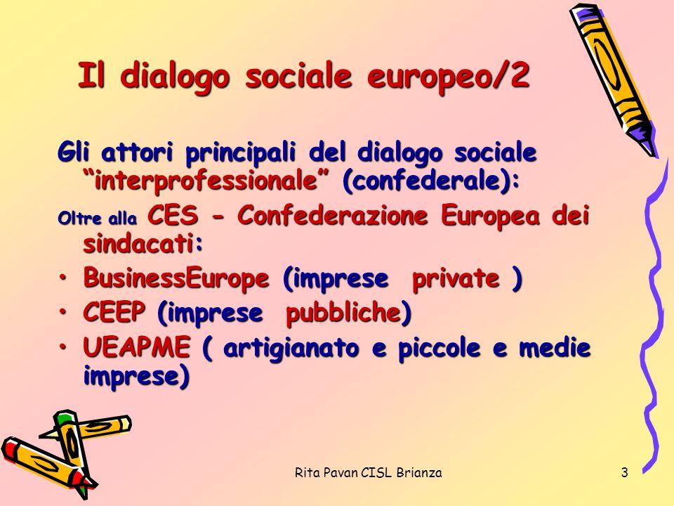 Il dialogo sociale europeo/2