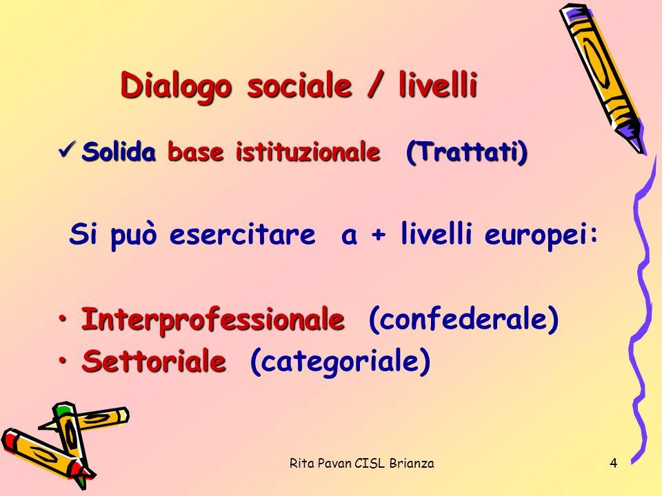 Dialogo sociale / livelli