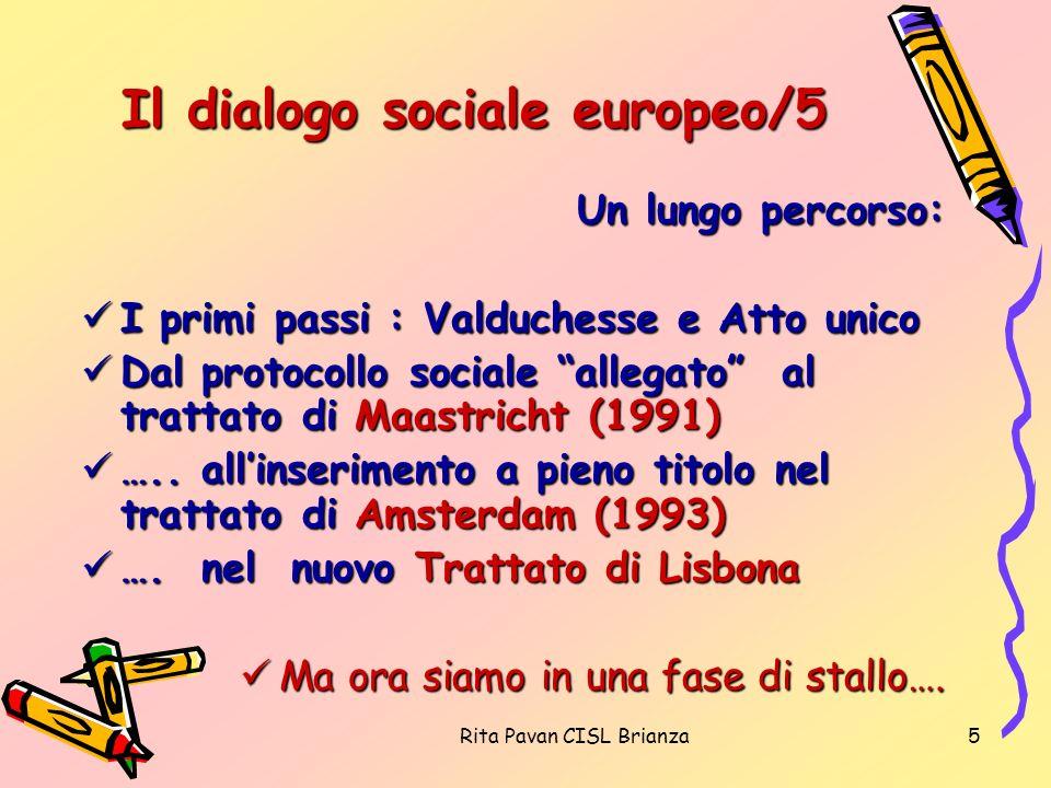 Il dialogo sociale europeo/5