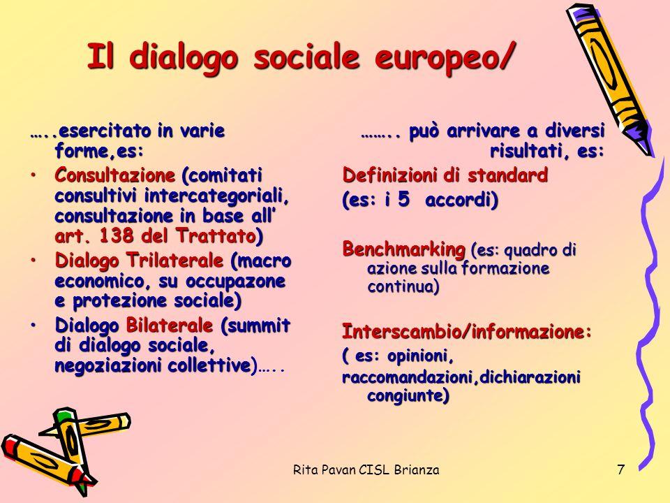 Il dialogo sociale europeo/
