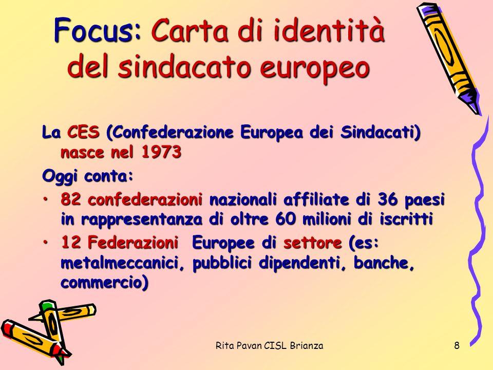Focus: Carta di identità del sindacato europeo