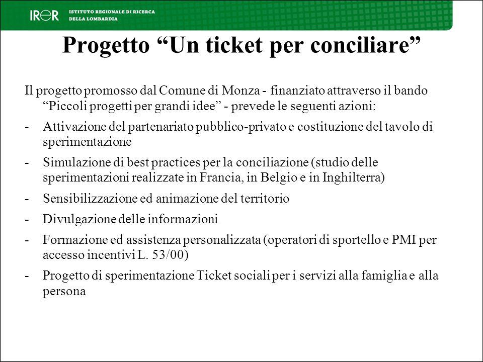 Progetto Un ticket per conciliare