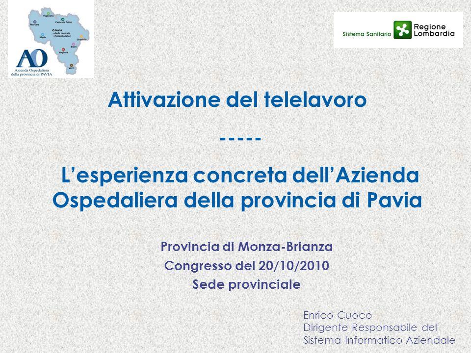 Attivazione del telelavoro Provincia di Monza-Brianza