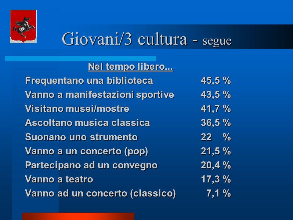 Giovani/3 cultura - segue