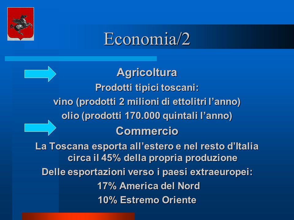 Economia/2 Agricoltura Commercio Prodotti tipici toscani: