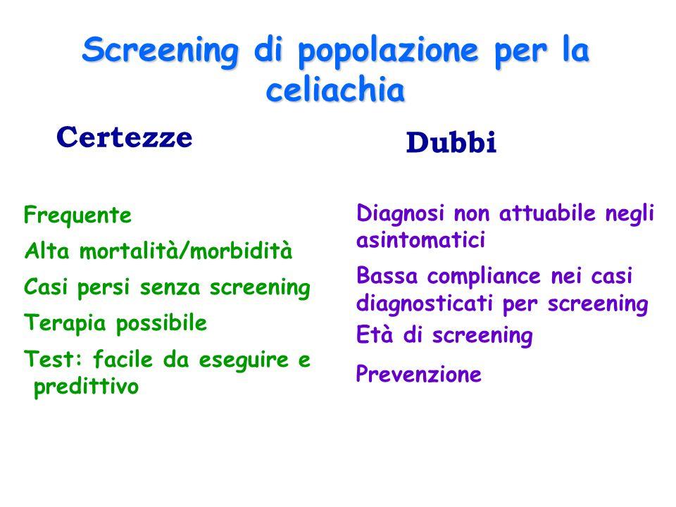 Screening di popolazione per la celiachia
