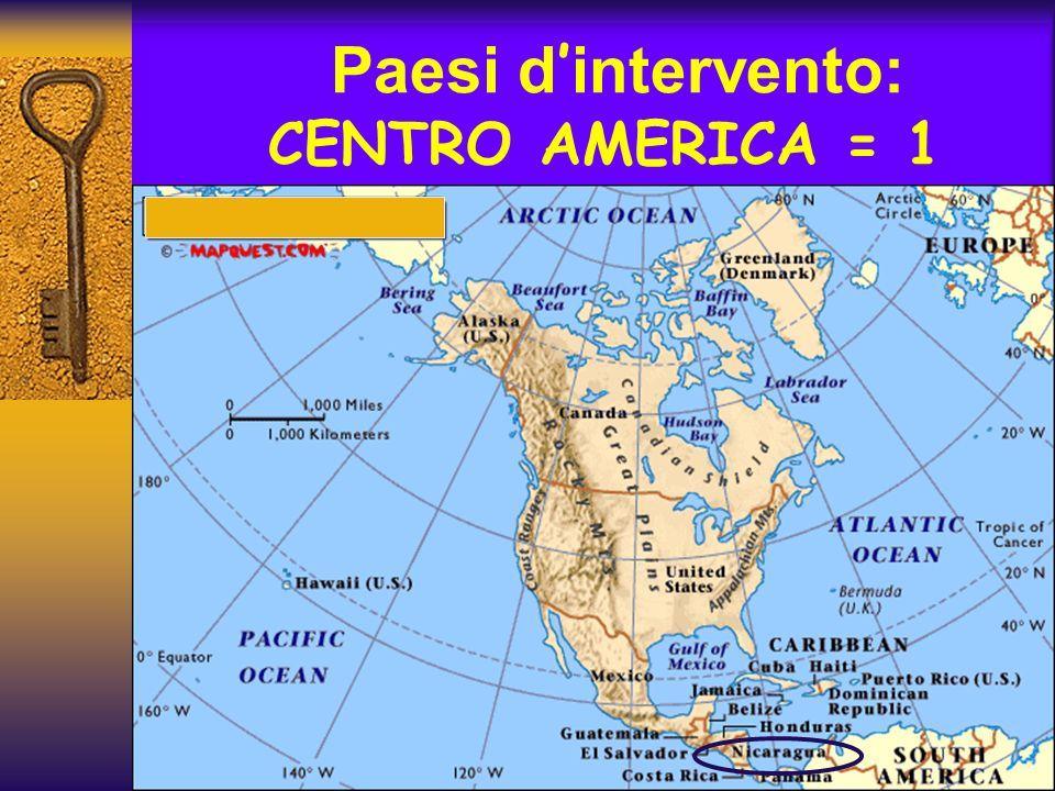 Paesi d'intervento: CENTRO AMERICA = 1