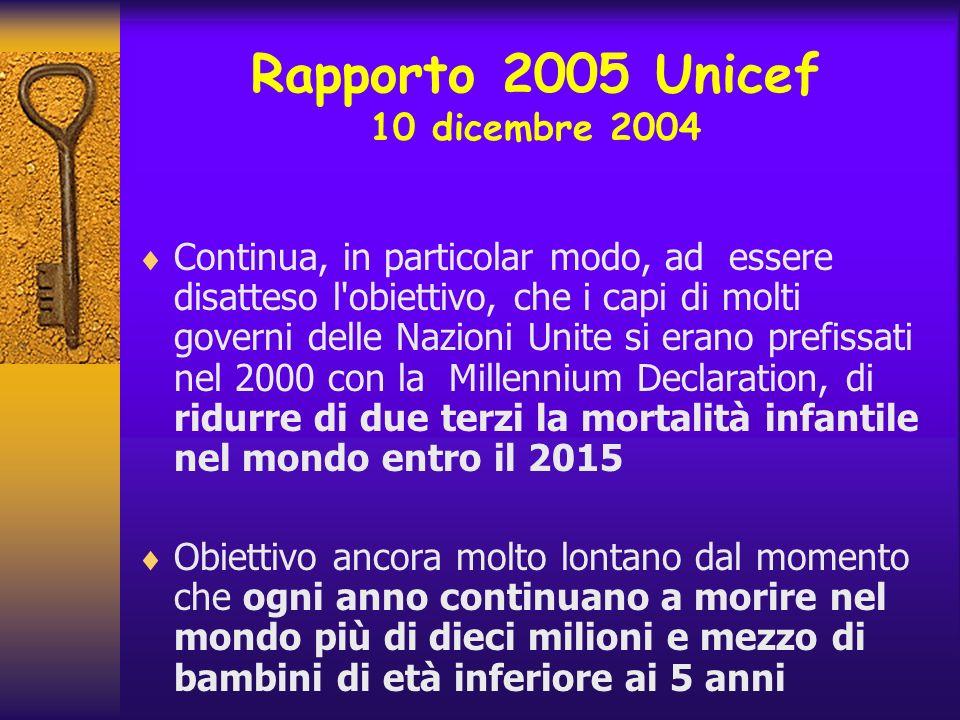 Rapporto 2005 Unicef 10 dicembre 2004
