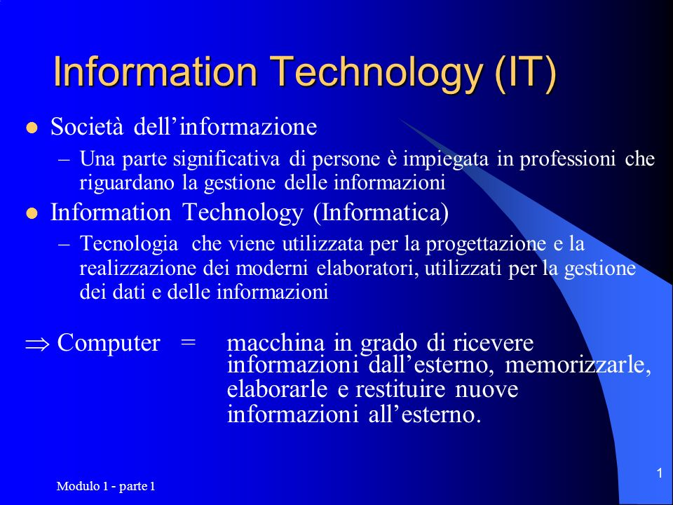 Information Technology (IT)