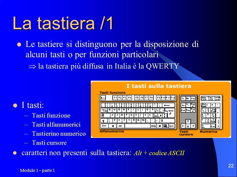 La tastiera /1Le tastiere si distinguono per la disposizione di alcuni tasti o per funzioni particolari.