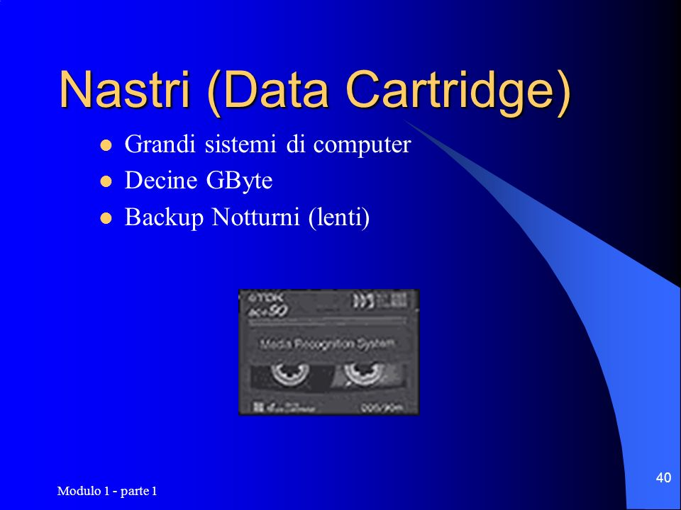 Nastri (Data Cartridge)