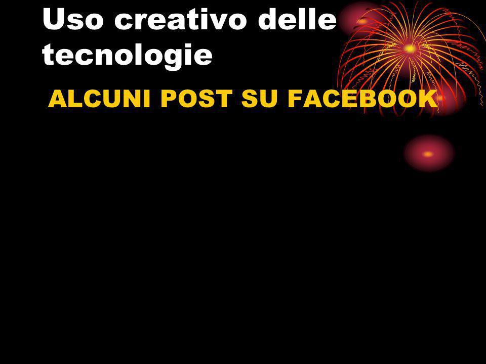 Uso creativo delle tecnologie