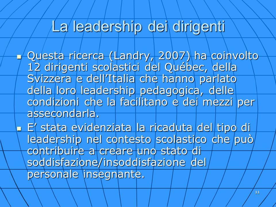 La leadership dei dirigenti