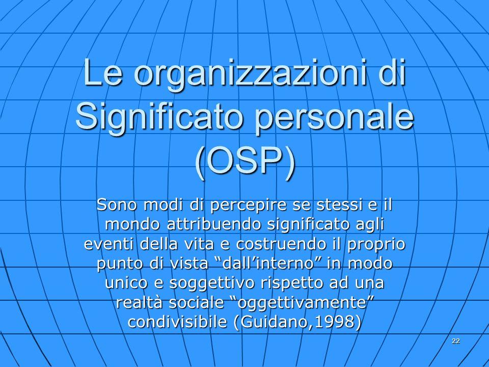 Le organizzazioni di Significato personale (OSP)