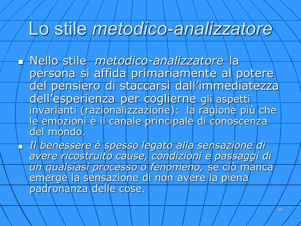 Lo stile metodico-analizzatore