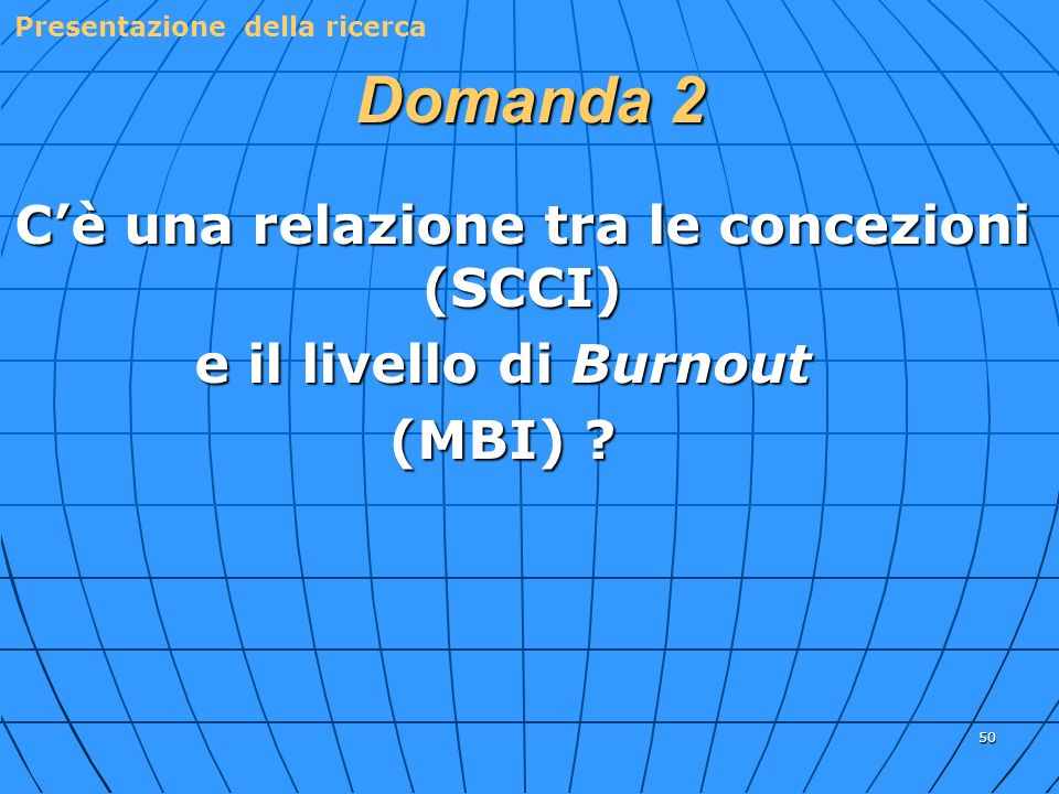 C'è una relazione tra le concezioni (SCCI)