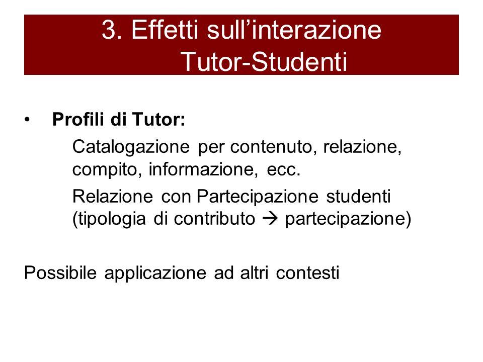 3. Effetti sull'interazione Tutor-Studenti