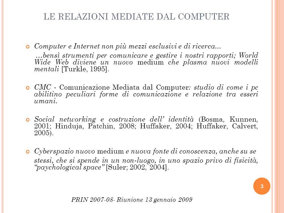 LE RELAZIONI MEDIATE DAL COMPUTER